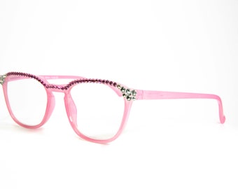 2bf936ba225 Round Pink Reading Glasses made with Swarovski Crystals