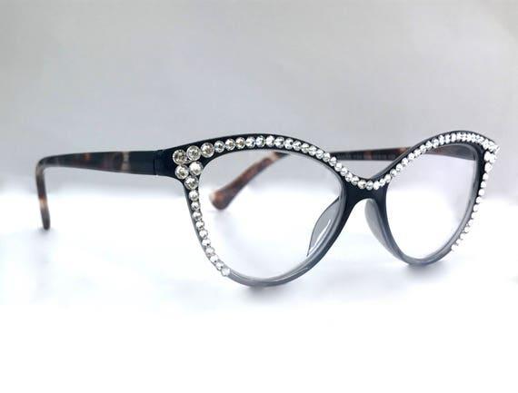 a415ca2b9cf5 Swarovski Crystal Readers Reading Glasses CATEYE