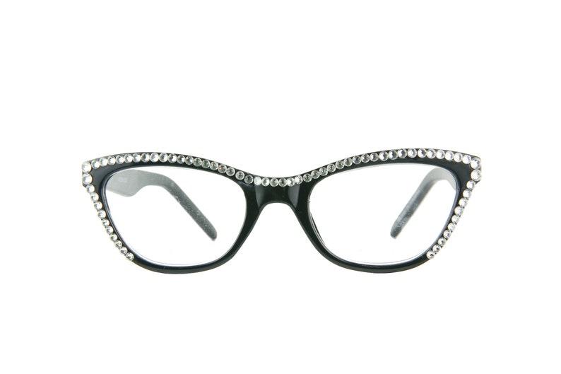 844831f3ac69 CAT EYE Reading Glasses with Swarovski Crystals