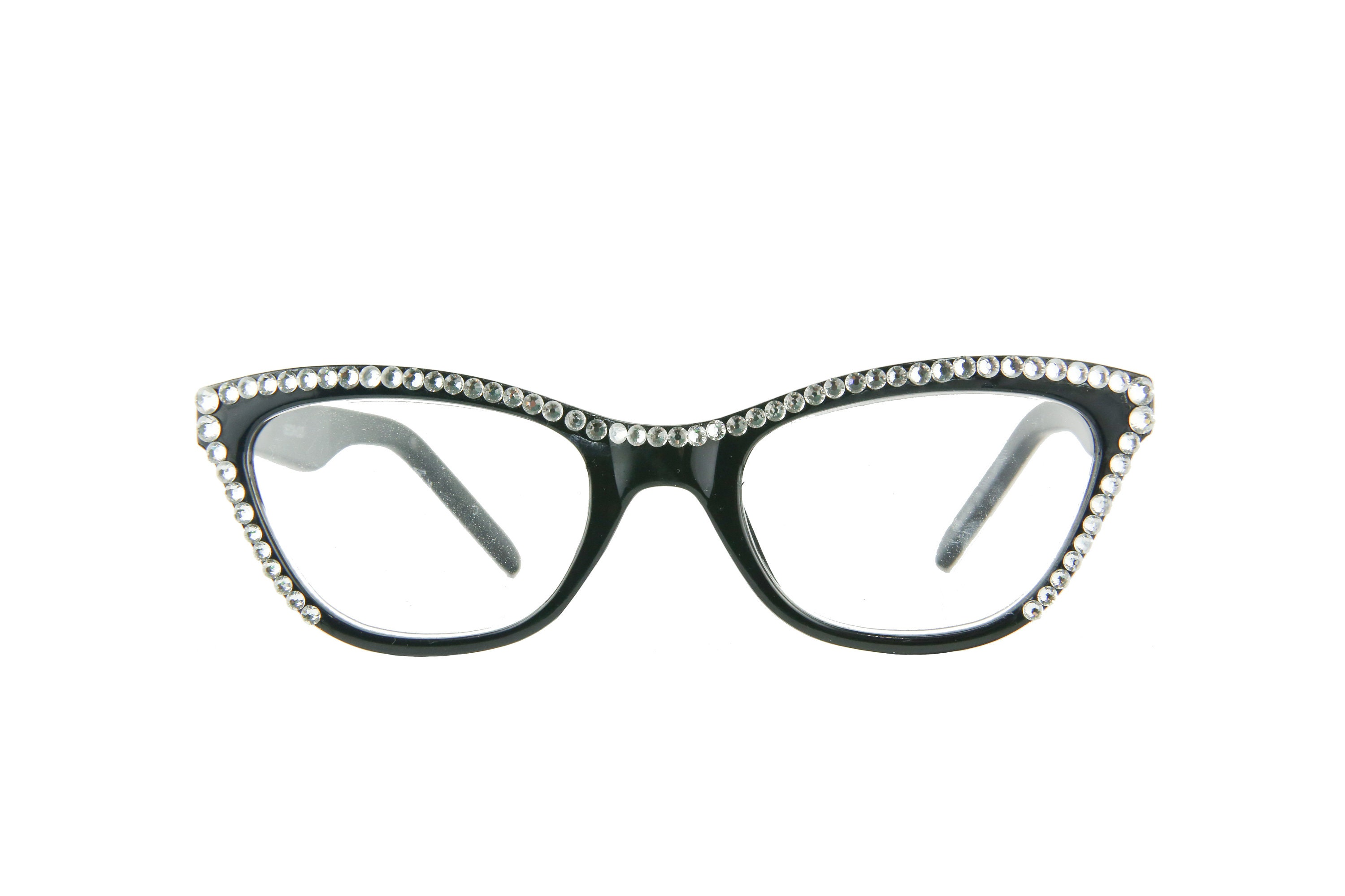 cc6194559c CAT EYE Reading Glasses with Swarovski Crystals. gallery photo gallery photo