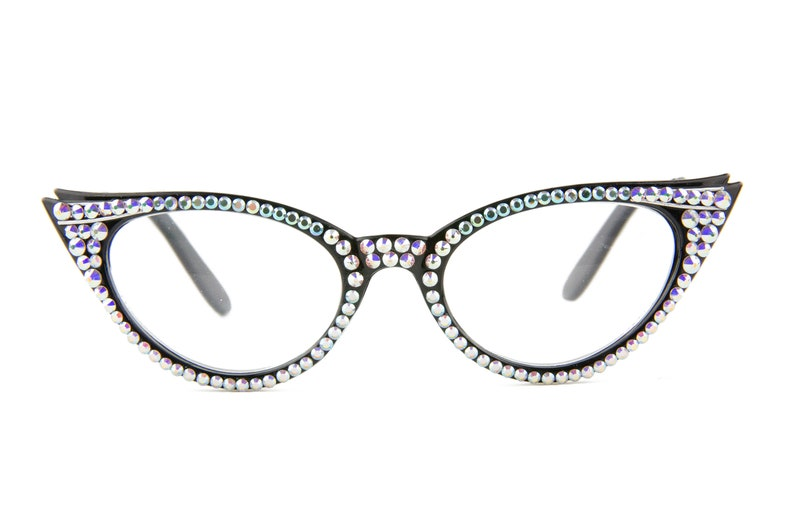 ca6e081f1dce Vintage Cat-Eye Reading Glasses made with Swarovski Crystals