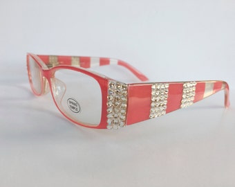 Reading Glasses Made with Authentic Swarovski Crystals +1.25 +2.00 +2.25