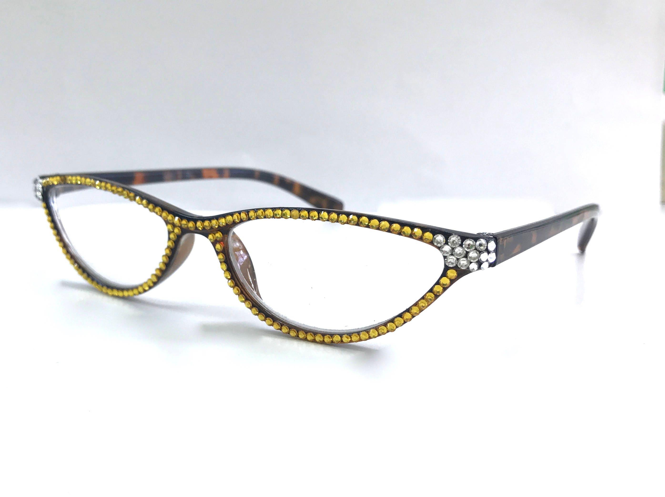 85417933c535 Cat-eye Swarovski Crystal Readers Reading Glasses