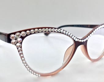 Reading Glasses Made with Authentic Swarovski Crystals +1.25 +1.75 +2.00 +2.50