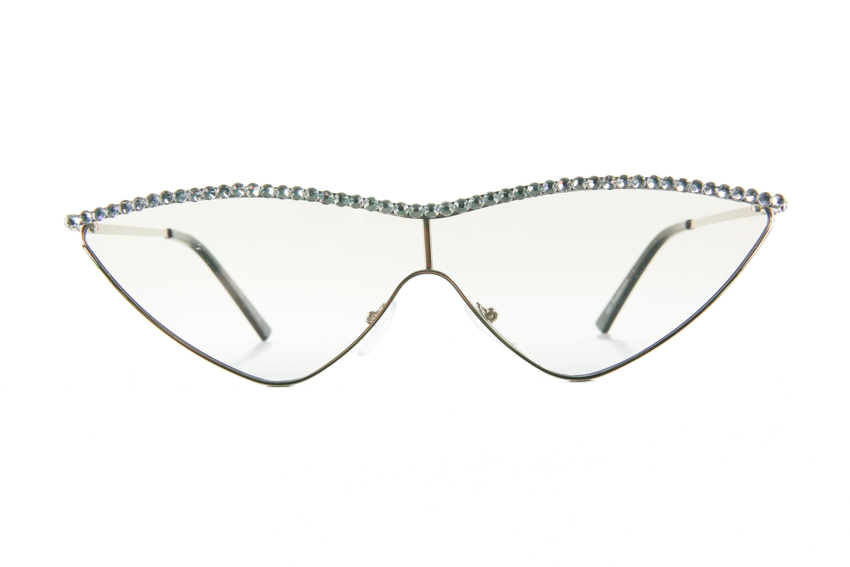 Clear Fashion Vintage Cat Eye Sunglasses