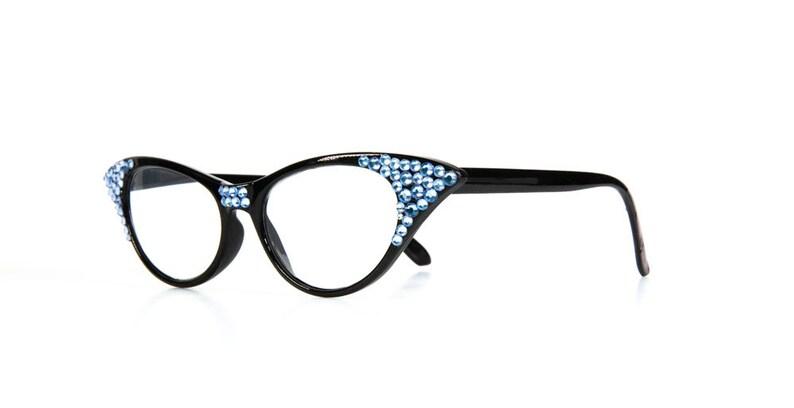 ef77c8391f70 Blue Vintage Sparkly Reading Glasses