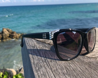 Swarovski Crystal Sunglasses Black