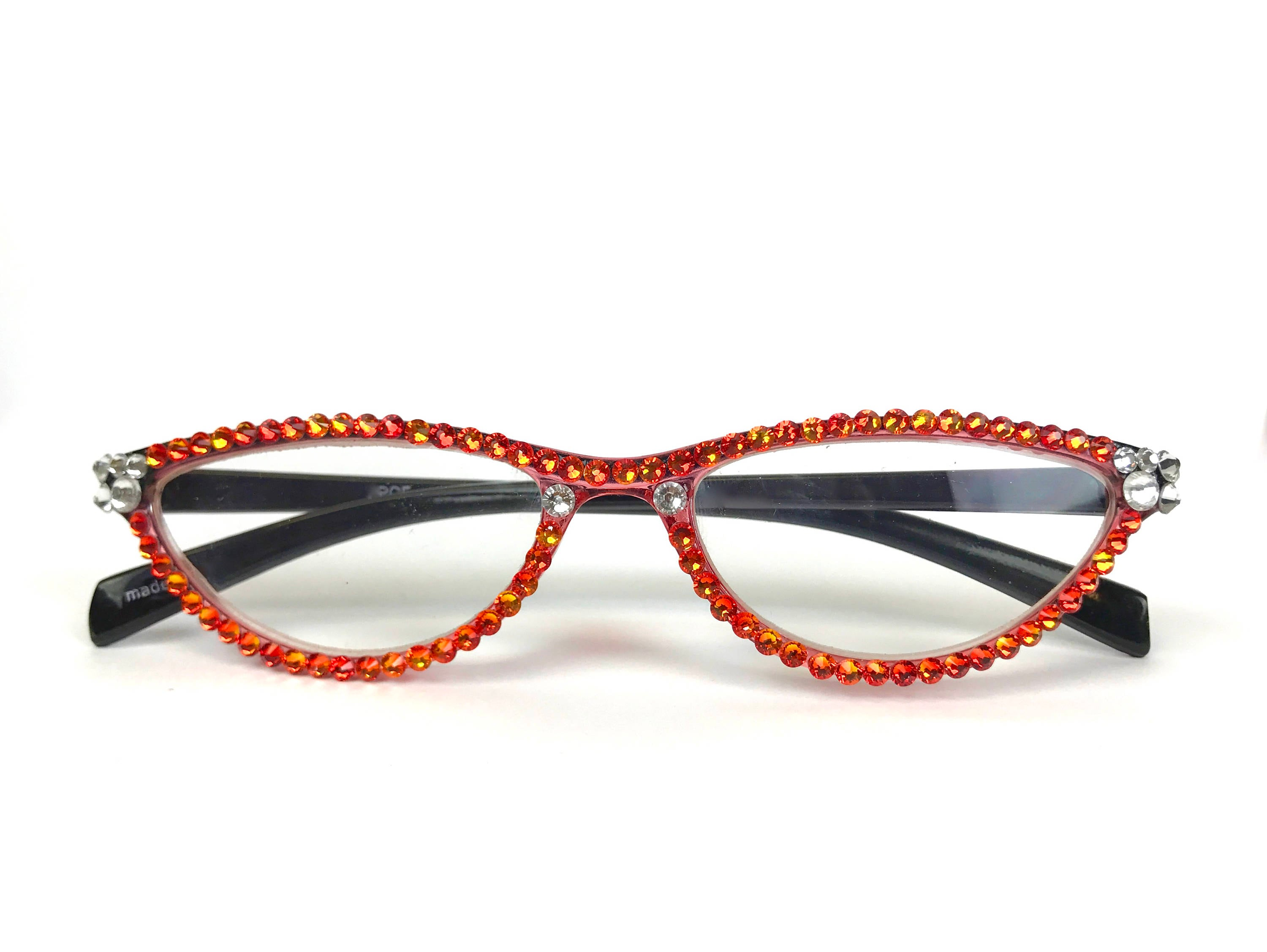 53d97a79796d Cat-Eye Reading Glasses made with Swarovski Crystals