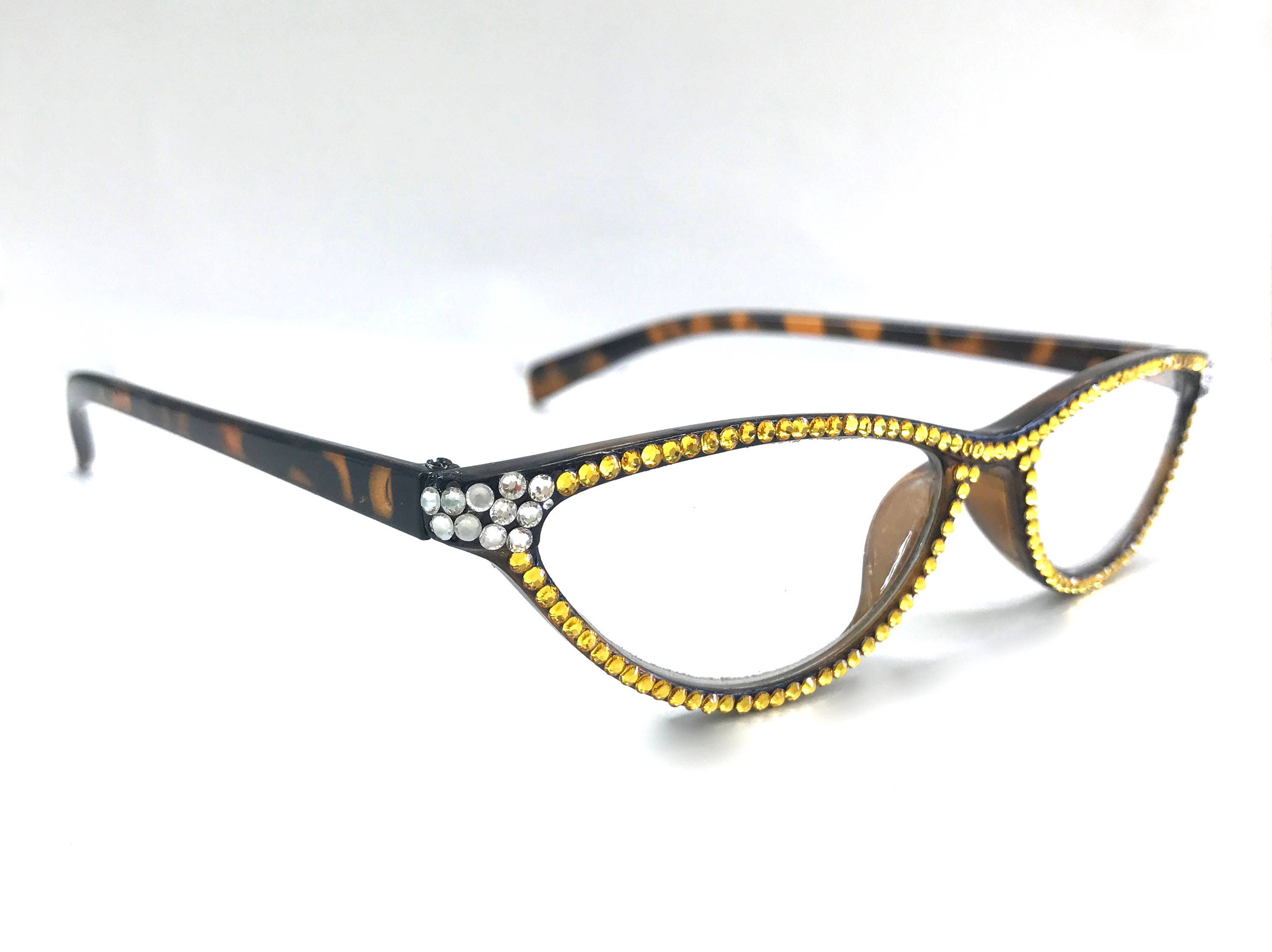 27dddb9861f Cat-eye Swarovski Crystal Readers Reading Glasses. gallery photo ...