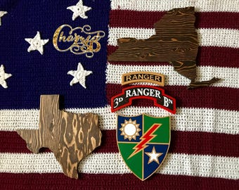 Army Ranger Wall Decor Tab Scroll DUI and States