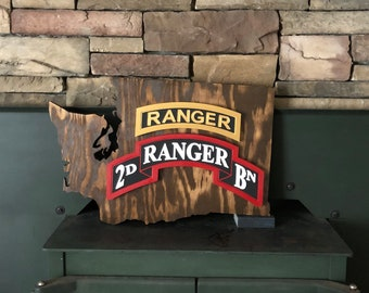 Ready to Ship Army Ranger Tab Scroll Washington State