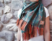 Alpaca Scarves for Women - Turquoise Alpaca Shawl Perfect Gift