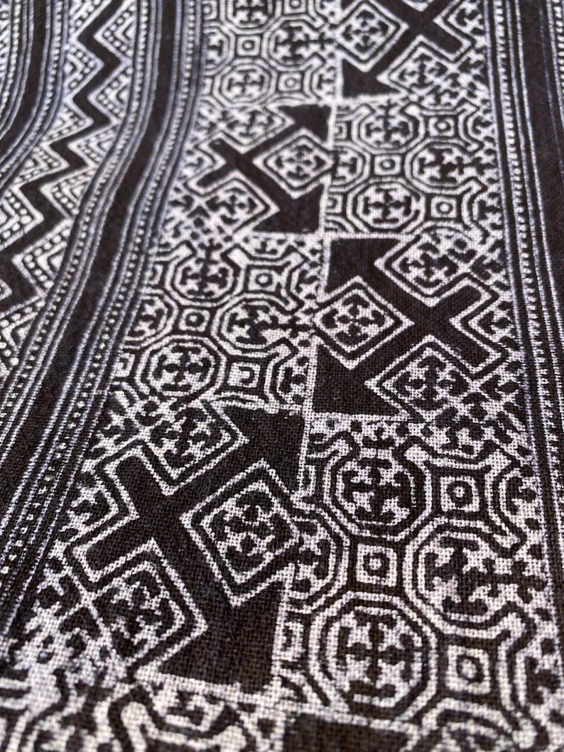 Thai Hmong Hmong fabric Cotton batik fabric Hand dyed fabric Block printed fabric Thai fabric Hand printed batik block Hmong textile