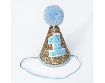 First Birthday Hat Blue