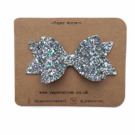 PARTY CHRISTMAS XMAS SPARKLE CHUNKY GLITTER BLING PARTY BOW