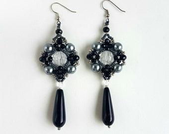 Handmade Beaded  Festive  Dangle  Earrings
