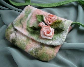 Handmade Felted Shoulder Bag for Girls