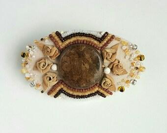 Unique Handmade Brooch- Allusion to Rokoko Style .