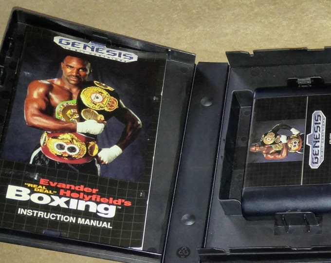 Evander Holyfield's Real Deal Boxing Complete in Box (CIB) Sega Genesis video game *Cleaned & Tested*
