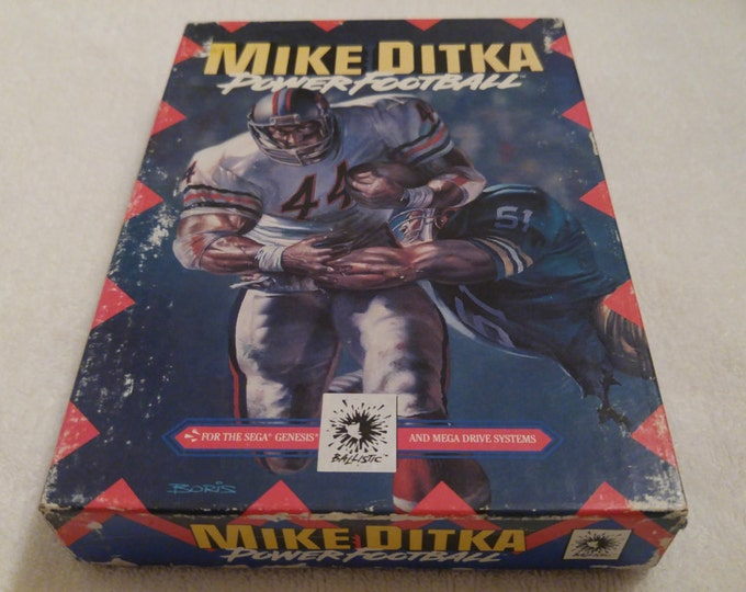 Mike Ditka Power Football Complete in Box (CIB) Sega Genisis video game *Cleaned & Tested*