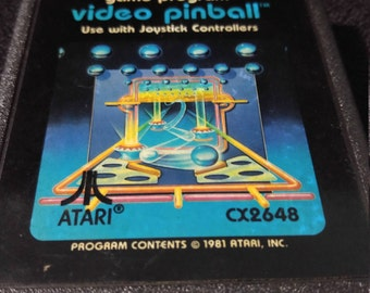 Video Pinball Atari 2600 video game *Cleaned & Tested*