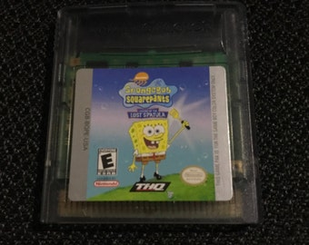 SpongeBob SquarePants Legend of the Lost Spatula Nintendo Gameboy cartridge video game