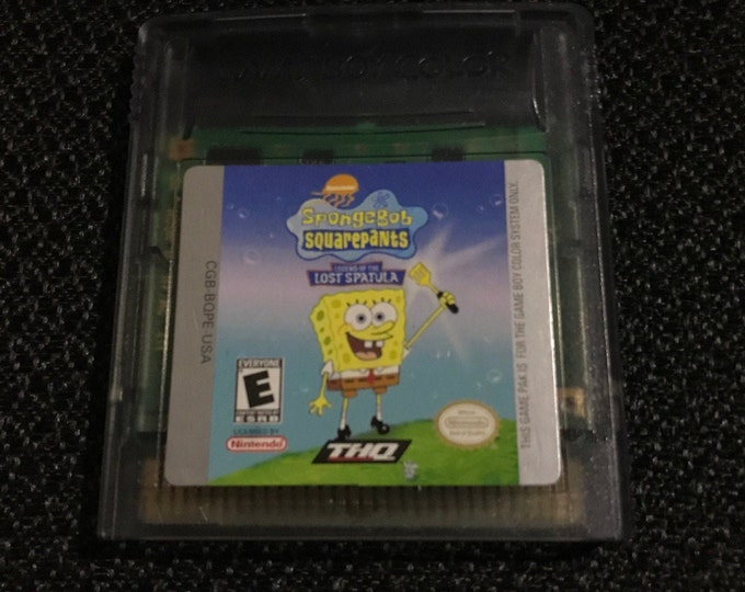 SpongeBob SquarePants Legend of the Lost Spatula Nintendo Gameboy cartridge video game