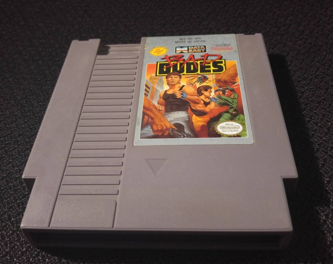 Bad Dudes Nintendo Entertainment System Game *Cleaned & Tested* NES