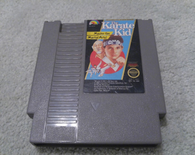 The Karate Kid Nintendo Entertainment System Game *Cleaned & Tested* NES