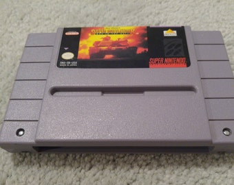 Super BattleTank: War in the Gulf Super Nintendo Entertainment System Game *Cleaned & Tested* SNES