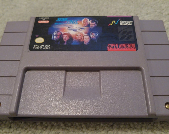 Star Trek: The Next Generation Super Nintendo Entertainment System Game *Cleaned & Tested* SNES