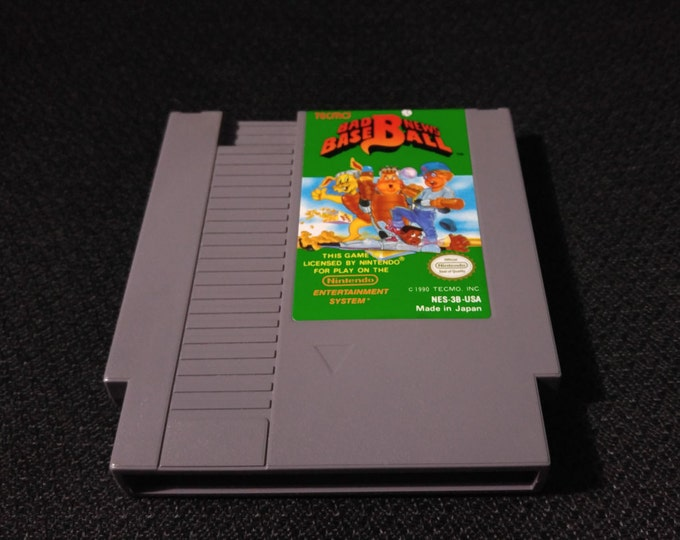 Bad News Baseball Nintendo Entertainment System Game *Cleaned & Tested* NES