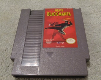 Wrath of the black manta Nintendo Entertainment System Game *Cleaned & Tested* NES