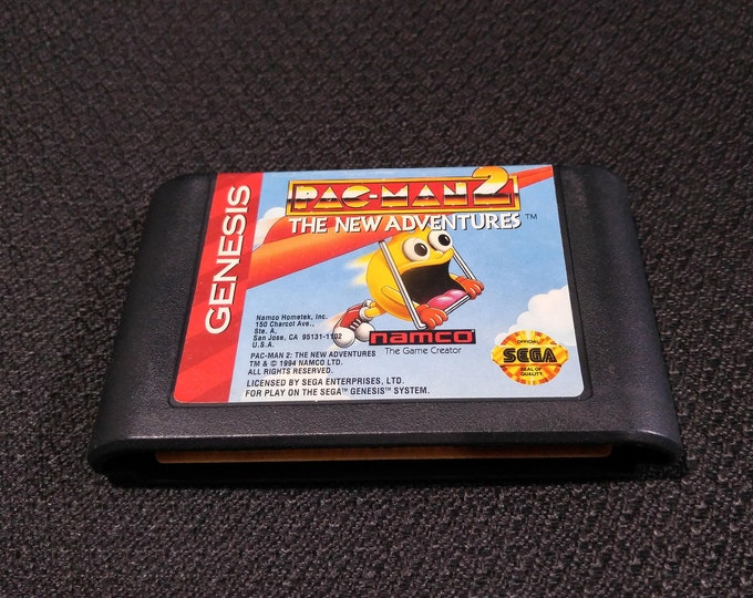 Pac-Man 2 The New Adventures Sega Genesis video game *Cleaned & Tested*