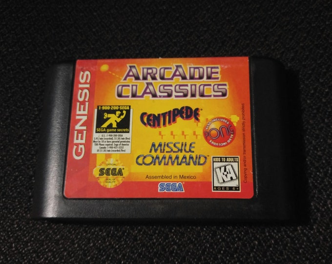 Arcade Classics Sega Genesis video game *Cleaned & Tested*
