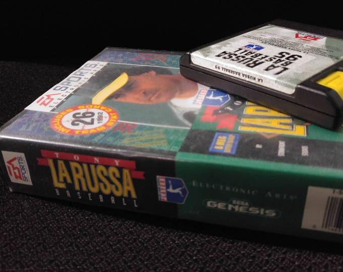 Tony La Russa Baseball Sega Genisis video game with box