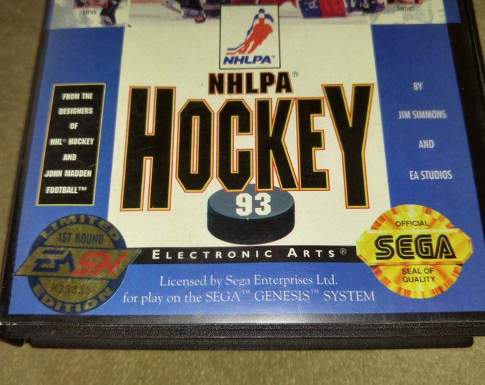 NHLPA Hockey 93 Limited Edition Complete in Box (CIB) Sega Genisis video game *Cleaned & Tested*