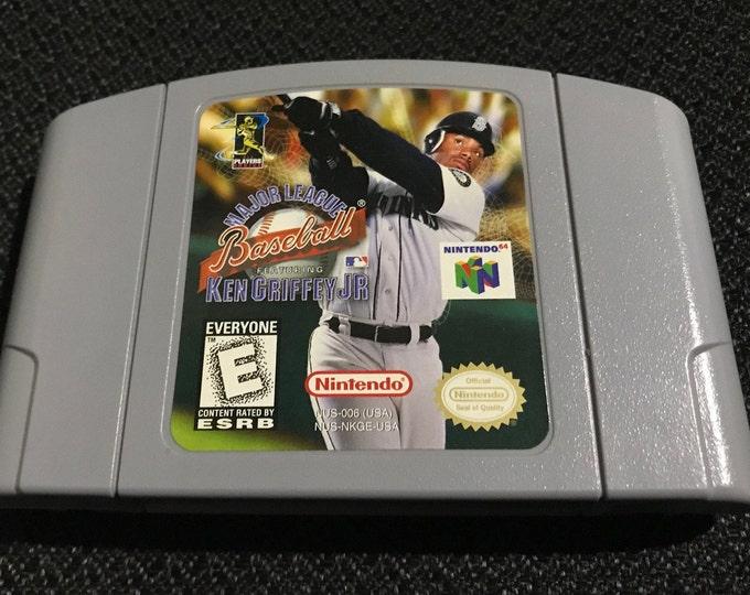 Ken Griffey Jr Baseball  Nintendo 64 Game *Cleaned & Tested* N64