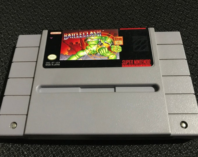 Battle Clash Super Nintendo Entertainment System Game *Cleaned & Tested* SNES