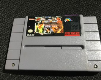 WWF Super Wrestle Mania Super Nintendo Entertainment System Game *Cleaned & Tested* SNES
