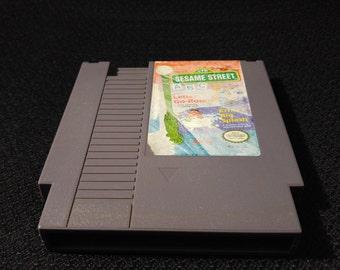 Sesame Street ABC Nintendo Entertainment System Game *Cleaned & Tested* NES