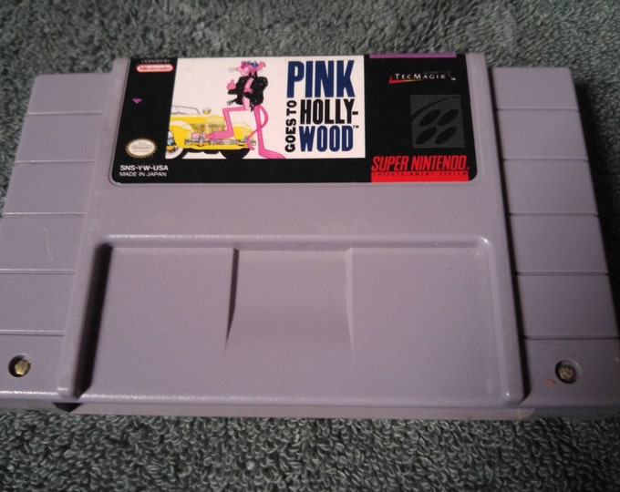 Pink Panther goes to Hollywood Super Nintendo Entertainment System Game *Cleaned & Tested* SNES