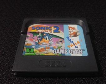 Sonic the Hedgehog 2 Sega GameGear Video game *Cleaned & Tested*