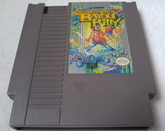 The Adventures of Bayou Billy Nintendo Entertainment System Game *Cleaned & Tested* NES