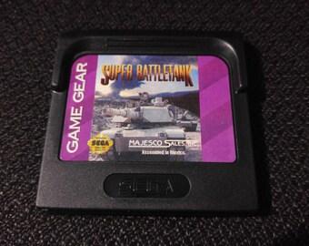 Super BattleTank Sega GameGear Video game *Cleaned & Tested*