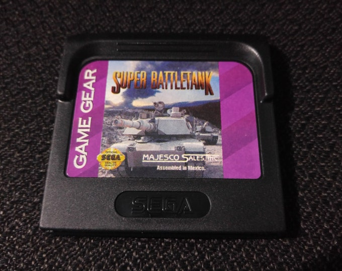 Super BattleTank Sega GameGear Video game *Cleaned & Tested*