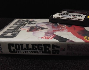 College Football USA 97 Sega Genisis video game with box *Cleaned & Tested*