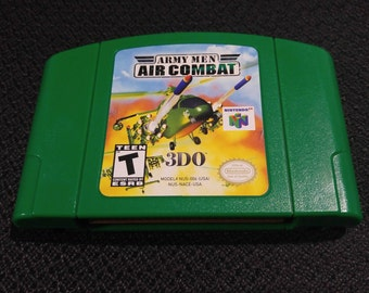 Army Men Air Combat Nintendo 64 Game *Cleaned & Tested* N64