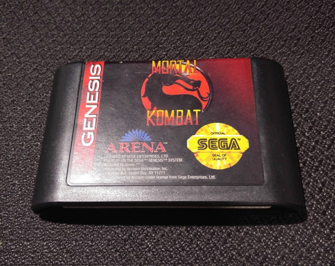 Mortal Kombat Sega Genesis video game