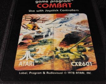 Combat Atari 2600 video game *Cleaned & Tested*